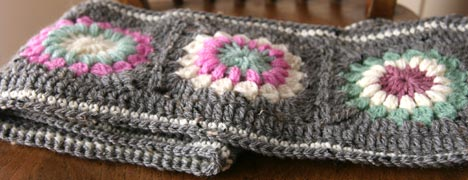 Crochet - Granny Square Scarves