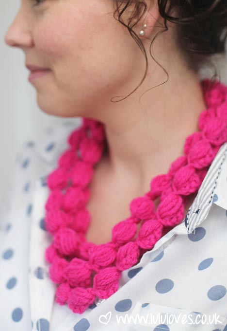 Lululoves: Pink Crochet Puff Chains