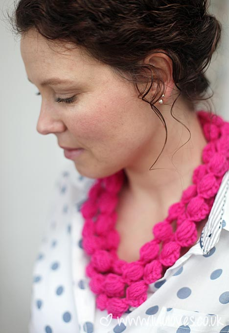 Lululoves: Crochet Puff Stitch Necklace