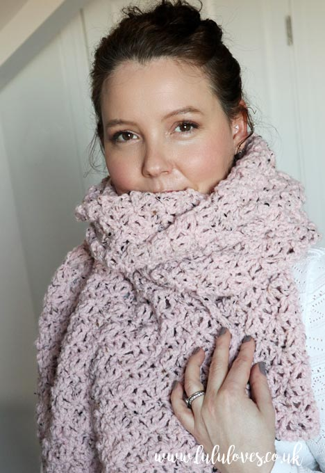 Free Crochet Lacy Scarf Pattern | Lululoves Blog