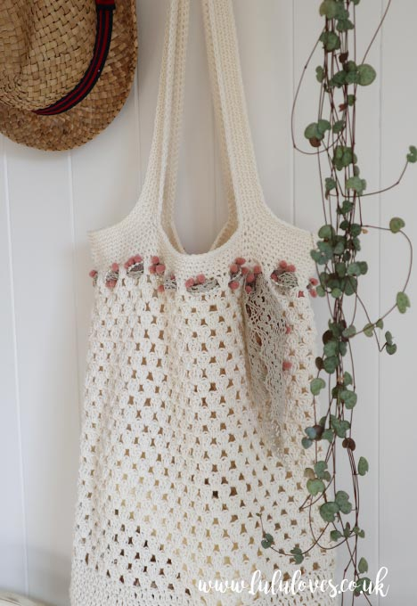 Crochet Market Tote Bag | Lululoves Blog