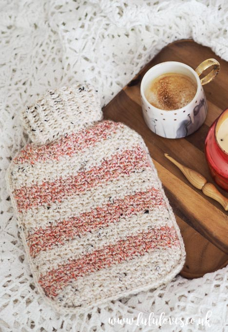Free Crochet Pattern - Hot Water Bottle Cosy | Lululoves Blog
