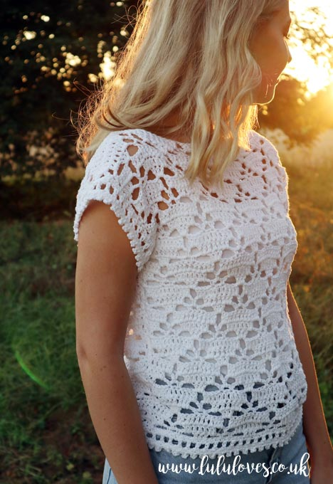 Crochet T-Shirt from Romantic Crochet Book | Emma Escott (Lululoves)