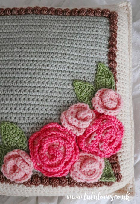 Crochet Cushion from Romantic Crochet Book | Emma Escott (Lululoves)